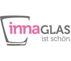 Ciotola rotonda di vetro GLORIA, bianco, fatta a mano, 14,5cm, Ø 22cm