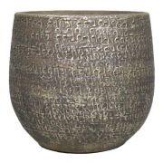 Vaso da fiori NAVID, ceramica, granulato, marrone, 25cm, Ø27cm